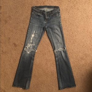 Citizens Of Humanity Boot Cut Rip Jeans